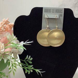 NWT- Robert Lee Morris Soho Gold- Tone Earrings